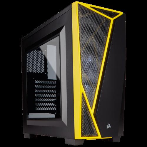 Corsair Carbide Series Spec-04 Mid-Tower Gaming Computer Case - Black / Yellow