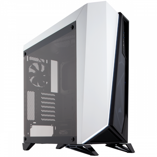 Corsair Carbide Series Spec-Omega Tempered Glass Mid-Tower ATX Gaming Computer Case - Black/White
