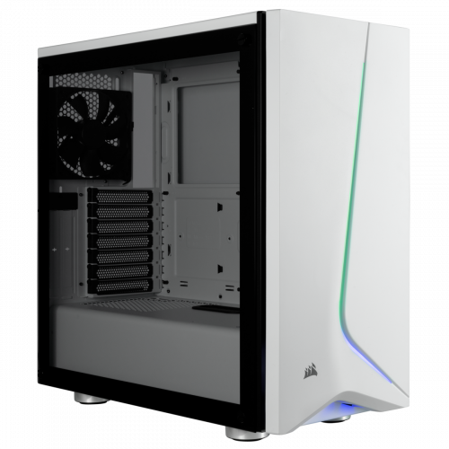 Corsair Carbide Spec-06 RGB Tempered Glass Mid Tower Computer Case - White