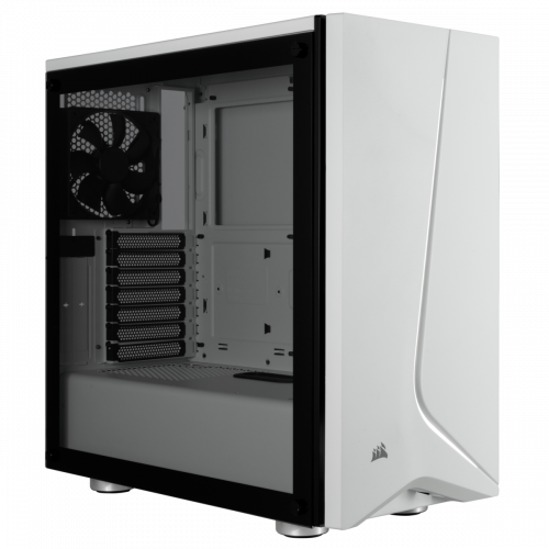 Corsair Carbide Spec-06 Tempered Glass Mid Tower Computer Case - White