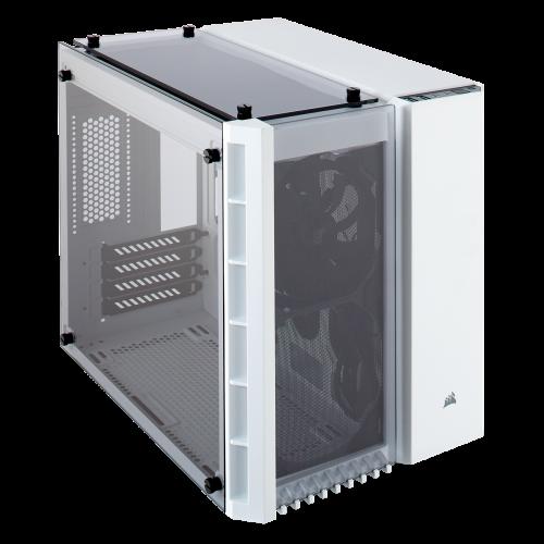 Corsair Crystal Series 280X Tempered Glass Micro ATX Computer Case - White