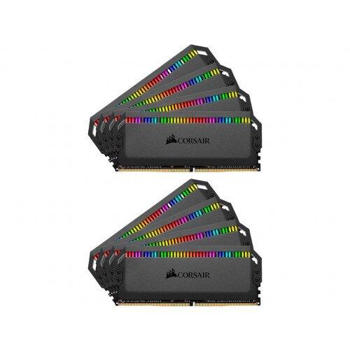 Corsair Dominator Platinum RGB DDR4 Memory - 128GB Kit (8 x 16GB) - 3200MHz C16