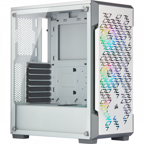 Corsair iCUE 220T RGB Airflow Tempered Glass Mid-Tower Smart Computer Case - White