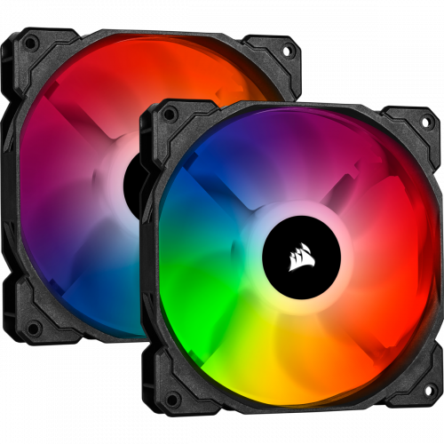 Corsair iCUE SP140 RGB PRO Performance Case Fan - Twin Pack with Lighting Node CORE - 140mm x 25mm