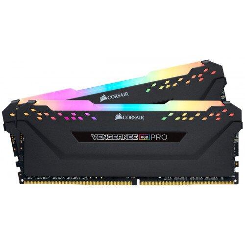 Corsair VENGEANCE RGB PRO DDR4 DRAM Memory Kit - Black - 32GB (2 x 16GB) - 3600MHz C18