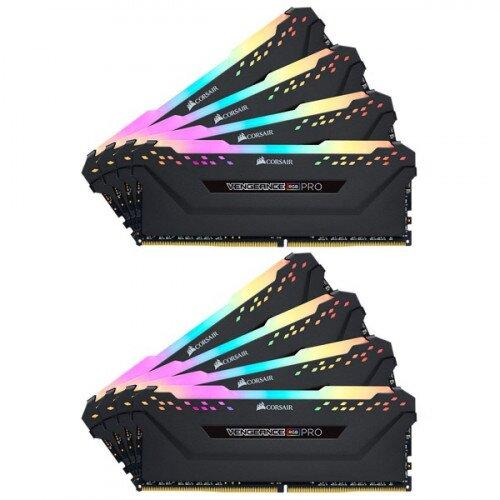 Corsair VENGEANCE RGB PRO DDR4 DRAM Memory Kit - Black - 256GB Kit (8 x 32GB) - 3000MHz C16