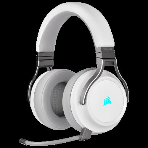 Corsair Virtuoso RGB Wireless High-Fidelity Gaming Headset - White