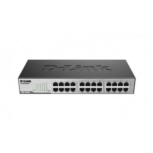 D-Link 24-Port 10/100 Unmanaged Desktop or Rackmount Switch
