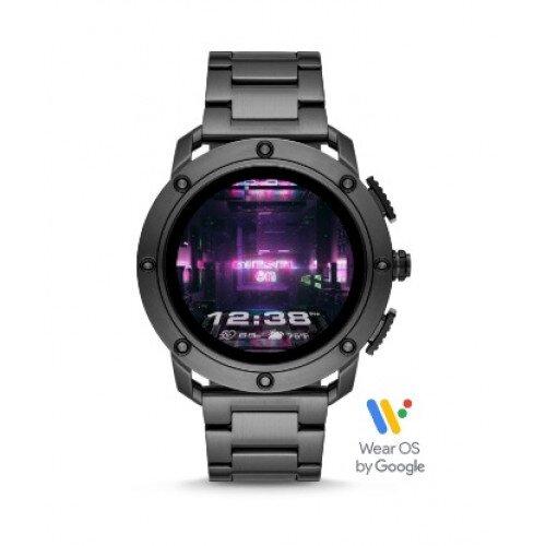 Diesel On Axial Smartwatch - Gunmetal-Tone Stainless Steel