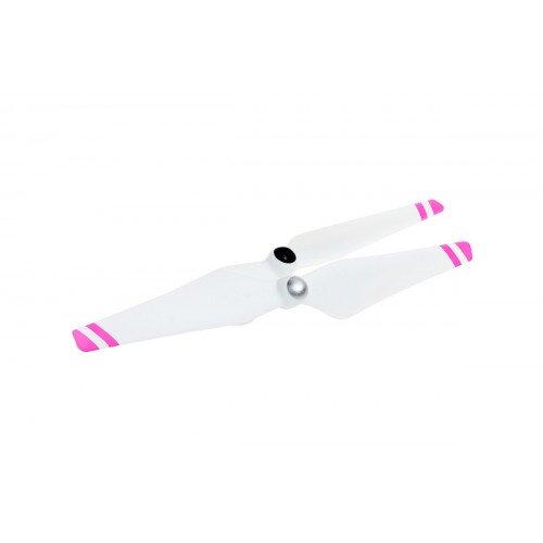 DJI 9450 Self-Tightening Propellers Metal Hub - White with Pink Stripes