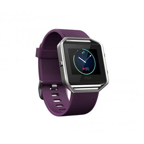Fitbit Blaze Smart Fitness Watch - Plum - Large