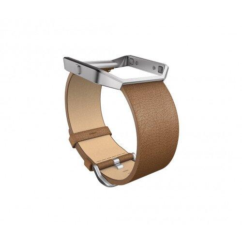 Fitbit Blaze Leather Band + Frame - Camel - Regular - Large