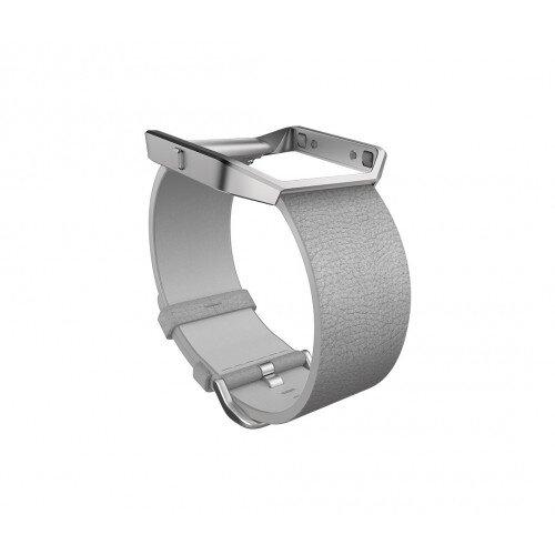 Fitbit Blaze Leather Band + Frame - Mist Gray - Regular - Large