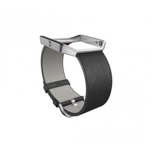 Fitbit Blaze Leather Band + Frame - Black - Regular - Small