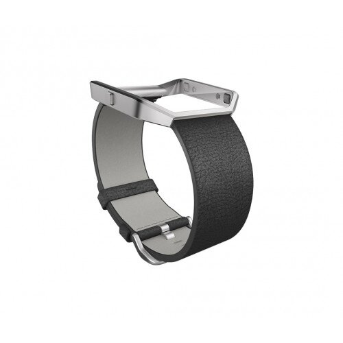 Fitbit Blaze Leather Band + Frame - Black - Regular - Large