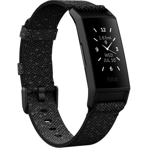 Fitbit Charge 4 Advanced Fitness Tracker - Special Edition - Granite Reflective Woven