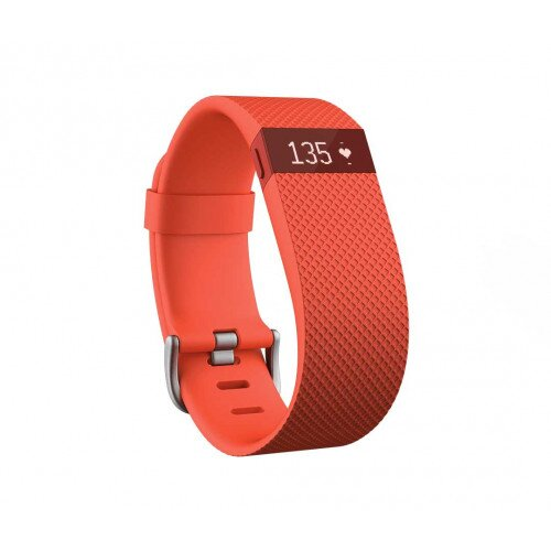 Fitbit Charge HR Heart Rate and Activity Tracker + Sleep Wristband - Tangerine - Large