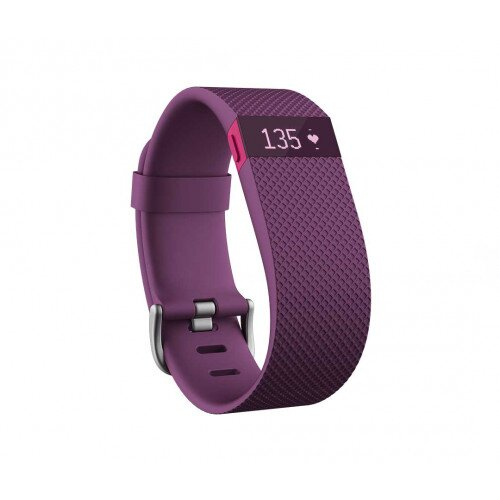 Fitbit Charge HR Heart Rate and Activity Tracker + Sleep Wristband - Plum - XL