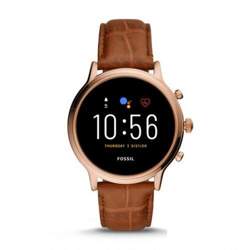 Fossil Gen 5 Smartwatch Julianna HR - Brown Croco Leather