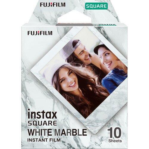 Fujifilm Instax SQUARE Film - White Marble - 10 Sheets