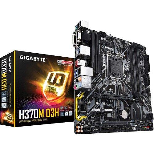 Gigabyte Intel H370 Ultra Durable Motherboard USB 3.1 Gen2 Type-C & Type-A