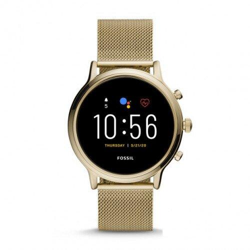 Fossil Gen 5 Smartwatch Julianna HR - Gold Tone Stainless Steel Mesh