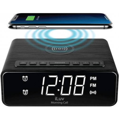 iLuv Morning Call 4Q Alarm Clock with Wireless Charger