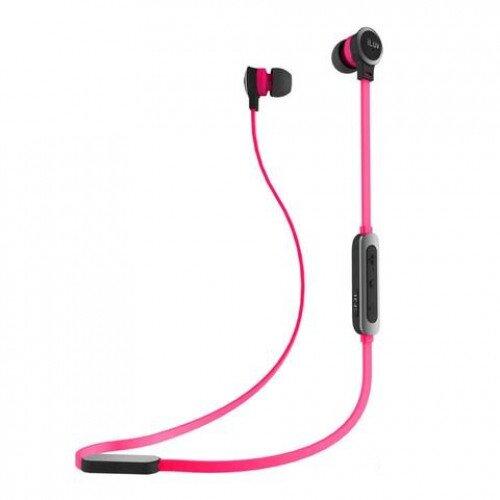iLuv Neon Sound Air In-Ear Wireless Headphones - Black / Pink