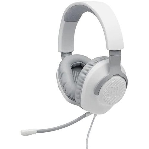 JBL Quantum 100 Over-Ear Wired Gaming Headset - White