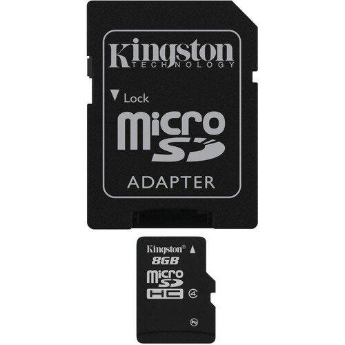 Kingston MicroSDHC Card - Class 4 with MicroSD Adapter - 8GB