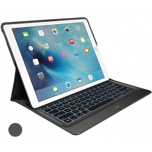 Logitech CREATE for iPad Pro 12.9 inch Backlit Keyboard Case with Smart Connector - Black / Black