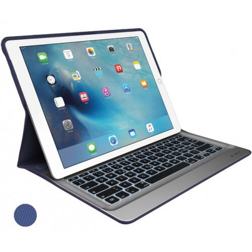 Logitech CREATE for iPad Pro 12.9 inch Backlit Keyboard Case with Smart Connector - Classic Blue / Silver