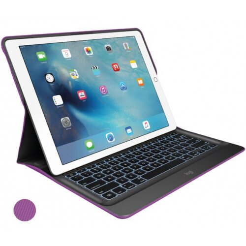 Logitech CREATE for iPad Pro 12.9 inch Backlit Keyboard Case with Smart Connector - Iris / Black