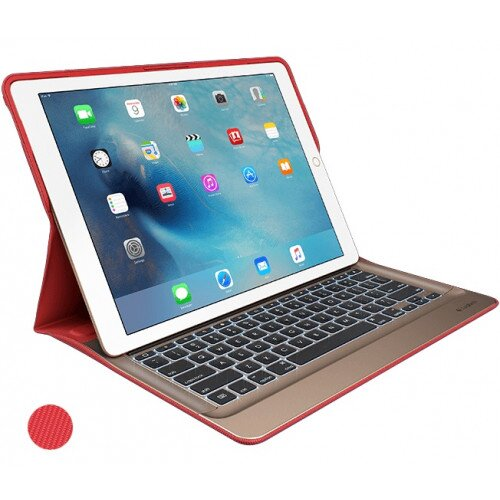Logitech CREATE for iPad Pro 12.9 inch Backlit Keyboard Case with Smart Connector - Classic Red / Gold