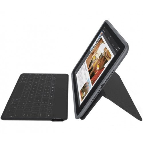 Logitech Duo-To-Go All-in-One, Case + Wireless Keyboard for iPad Air 2 - Black