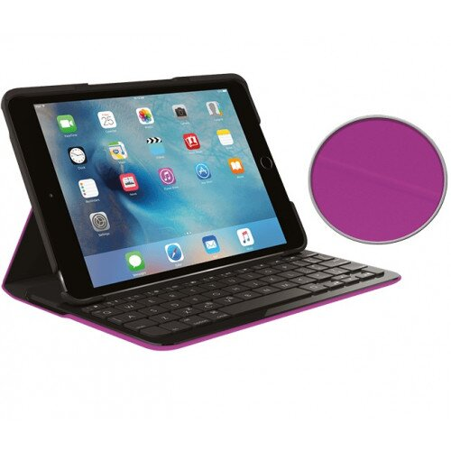 Logitech Focus Protective Case with Integrated keyboard - Violet