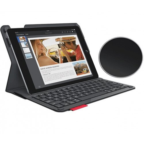 Logitech Type+ Case with Integrated Bluetooth keyboard for iPad Air 2 - Black