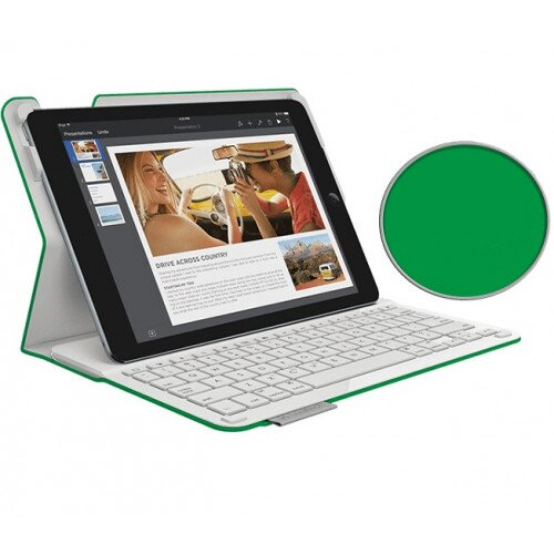 Logitech Type+ Case with Integrated Bluetooth keyboard for iPad Air 2 - Bright Green