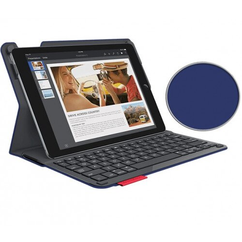 Logitech Type+ Case with Integrated Bluetooth keyboard for iPad Air 2 - Dark Blue