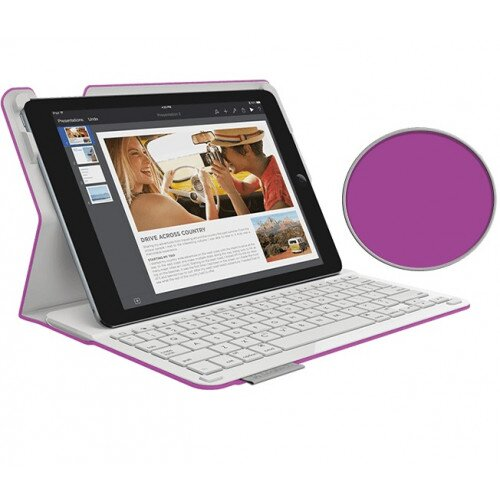 Logitech Type+ Case with Integrated Bluetooth keyboard for iPad Air 2 - Violet
