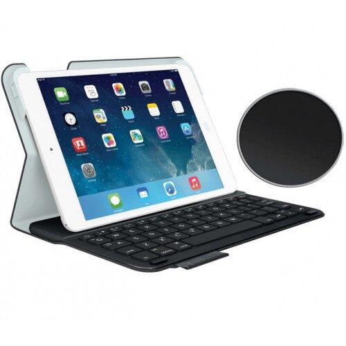 Logitech Ultrathin Keyboard Folio for iPad Mini, iPad Mini with Retina Display - Carbon Black Velvet / Touch