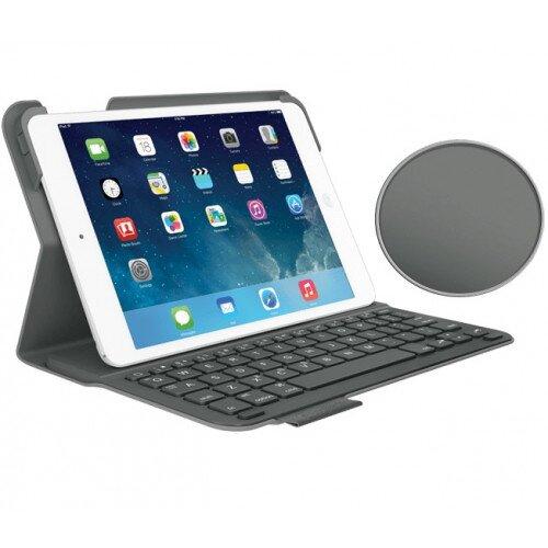 Logitech Ultrathin Keyboard Folio for iPad Mini, iPad Mini with Retina Display - Grey Velvet / Touch