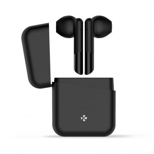 MyKronoz ZeBuds Lite TWS Wireless Earbuds with Charging Case - Black