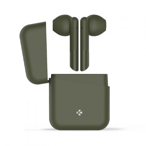 MyKronoz ZeBuds Lite TWS Wireless Earbuds with Charging Case - Kakhi