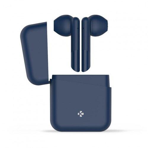 MyKronoz ZeBuds Lite TWS Wireless Earbuds with Charging Case - Navy Blue