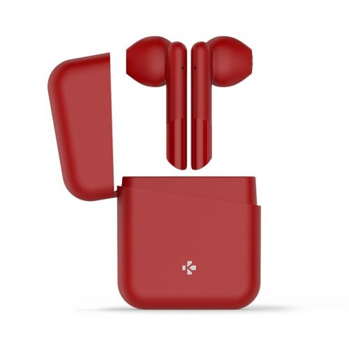 MyKronoz ZeBuds Lite TWS Wireless Earbuds with Charging Case - Red