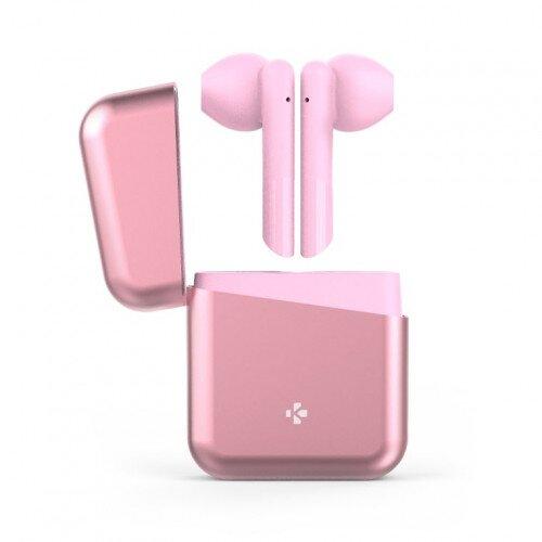 MyKronoz Zebuds Premium Tws Wireless Earbuds With Charging Case - Light pink