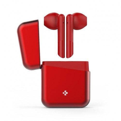 MyKronoz Zebuds Premium Tws Wireless Earbuds With Charging Case - Red