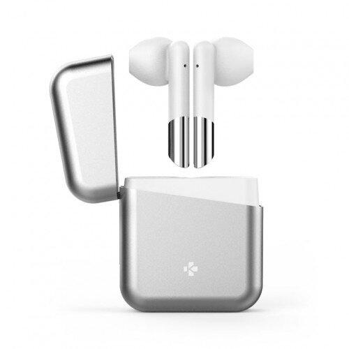 MyKronoz Zebuds Premium Tws Wireless Earbuds With Charging Case - Silver