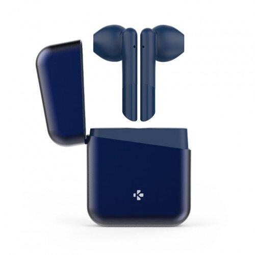 MyKronoz Zebuds Premium Tws Wireless Earbuds With Charging Case - Navy Blue